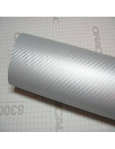 Folie carbon 3D Argintiu...