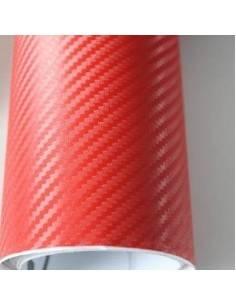 Folie carbon 3D Rosu 1,27 x 2m