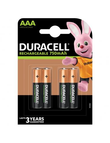 Acumulatori Duracell R3, AAAK4,...