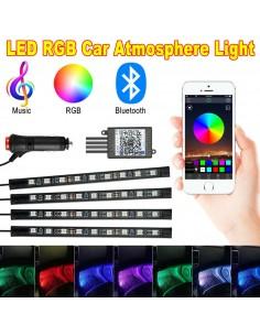 Kit 4 Lumini Ambientale RGB...